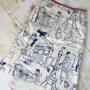 "Anthropologie ""ruth"" A Line Skirt"
